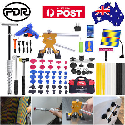 79pc AU Paintless Dent Removal Repair PDR Dent Lifter Slide Hammer Pullers Tools