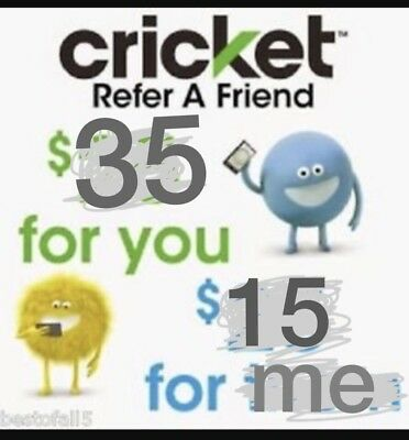 Cricket Wireless Referral Credit! $35 for You, $15 for Me... See Description