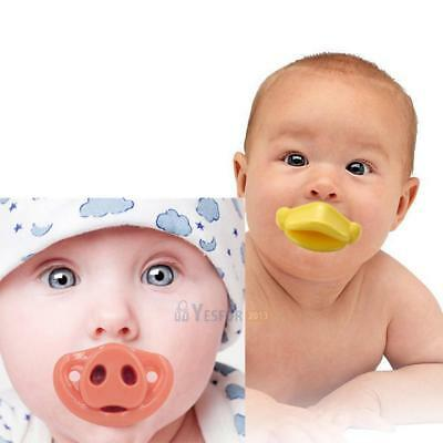 Lovely Duck & Pig Funny Baby Boy Girl Infant Nipples Pacifier Orthodontic Dummy