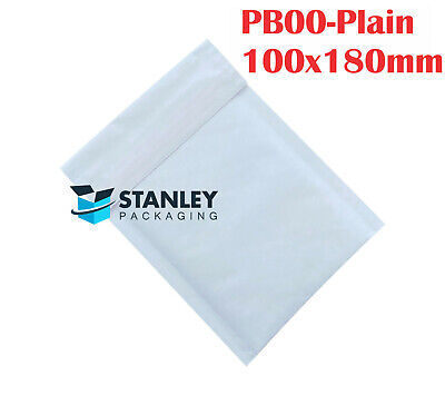 50 x #00 Bubble Padded Bag Mailer Envelope 100mm x 180mm 100x180mm