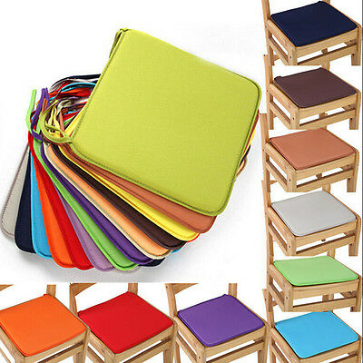 Cushion Office Chair Garden Indoor Dining Seat Pad Tie On Square Foam Patio 2017