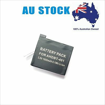 Battery / Charger For Gopro AHDBT-401 HD Hero4 Silver Black HERO 4