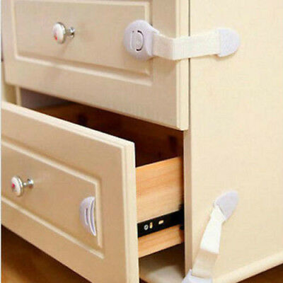 10x Kids Baby Child Pet Door Fridge Cupboard Cabinet Drawer Safety Locks