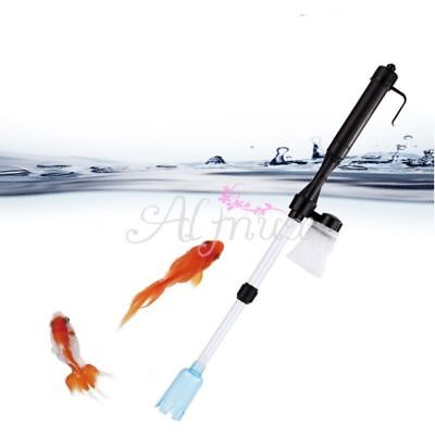 Hot Aquarium Gravel Battery Fish Tank Vacuum Vac Siphon Cleaner Pump Water #BX