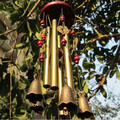 4Tubes5Bells Chinese Copper Wind Chimes Yard Garden Outdoor HomeDecorLucky Gift