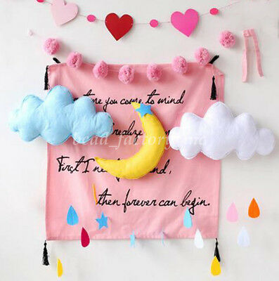 Cute Kid Room Decor Cloud Shaped Hanging Blanket Decor INS Photography Props