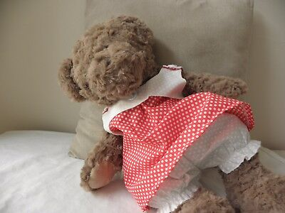 Sundress/ bloomers to fit Pumpkin Patch teddy girls 15 inch Build a bear clothes