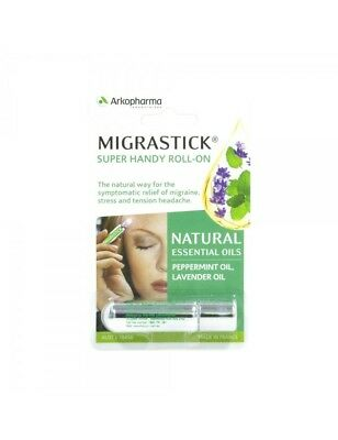 Migrastick Roll On 3ml Migraine Stree & Tension Headache Migra Stick BRAND NEW
