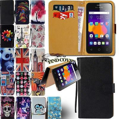 Leather Wallet Card Stand Magnetic Flip Case Cover For Various Alcatel Phones