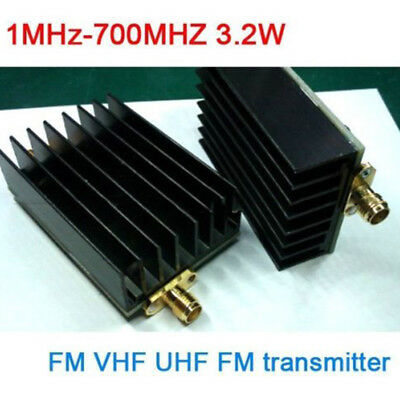 KF_ 1MHz-700MHZ 3.2W HF VHF UHF FM Transmitter RF Power Amplifier for Ham Radi