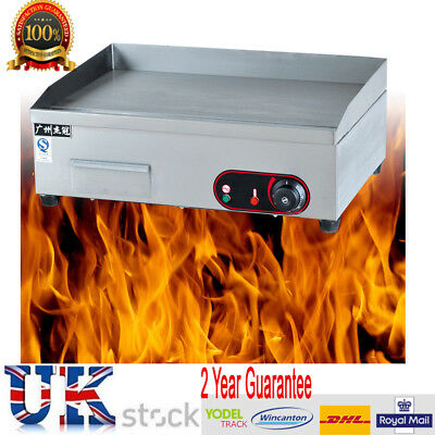 Commercial Electric Griddle Countertop Kitchen Flat Hotplate Grill BBQTeppanyaki