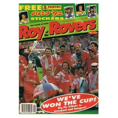 Roy of the Rovers Comic May 23 1992 MBox2769 We've won the cup! Big pic tribute