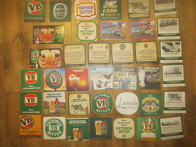 38 different VICTORIA BITTER Brewery Issue,collectable BEER COASTERS