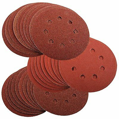 30 125mm Assorted Sanding Discs For Bosch PEX 220 300 Random Orbital Sander 60