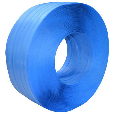 Hand Poly Strapping 12mm x 1000m Polypropylene Strap Breakload Blue Polyester