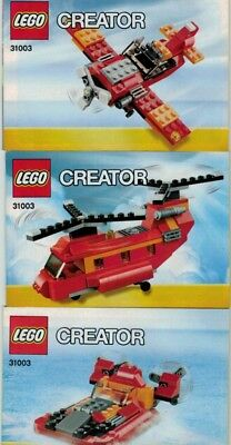 LEGO Instruction Manual ONLY - Creator Red Rotors - Set #31003- NEW!