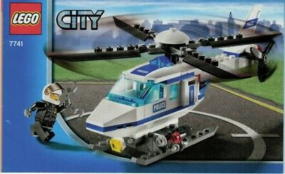 LEGO Instruction Manual ONLY - City - Police Helicopter - Set #7741
