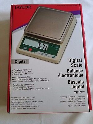 🌟TAYLOR Scale TE10FT Digital Packing/Portioning, w/ Stainless Steel Platform🌟