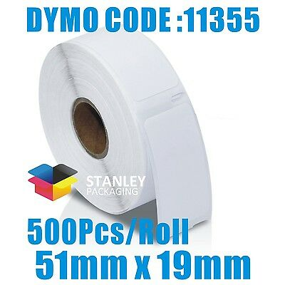 10 Rolls of Quality Labels for DYMO / SEIKO LabelWriter-DYMO CODE:11355 51X19mm