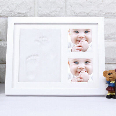 Newborn Baby Handprint Fingerprint Footprint Deluxe Wall Photo Picture Frame Kit