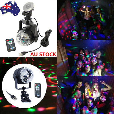 RGB LED Disco Home Party Crystal Magic Ball Stage Effect Light Laser Lamp Remote