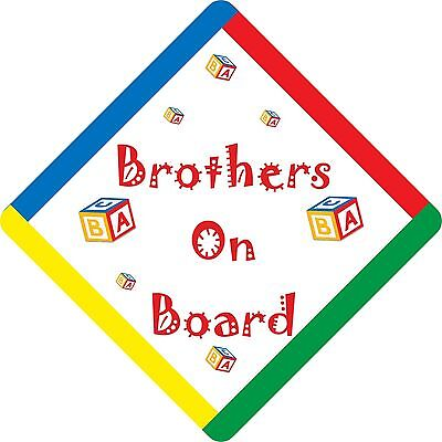 Colorful Brothers Baby On Board Kids Child Safety Sticker Car Vehicle Signs