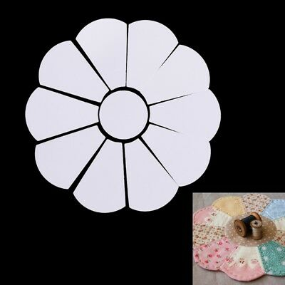 44Pcs Flower Shape Paper Quilting Templates Patchwork Template Craft Sewing DIY