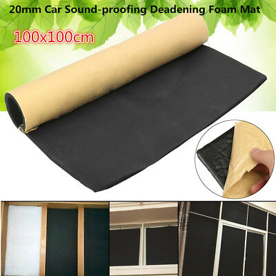 UK 3.3x3.3FT 20mm Roll Car Sound-proofing Deadening Insulation Acoustic Foam Mat
