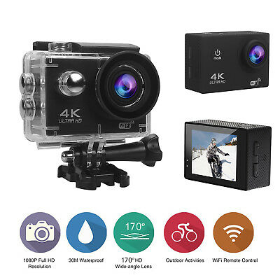 Waterproof 4K WiFi Ultra HD Sport Camcorder Helmet Action DV Camera Go V3 Pro US