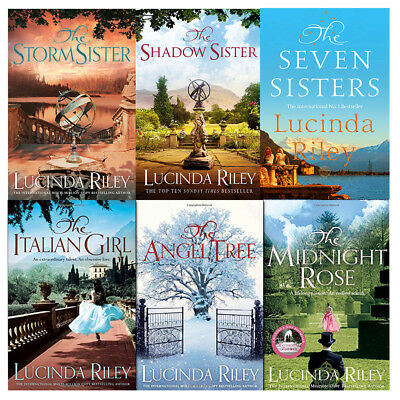 Lucinda Riley Seven Sisters 6 Books Collection Set Shadow Sister,Midnight Rose
