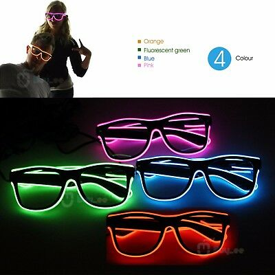 Party Concert 3-Mode Sound Activated Flash Blue LED Glasses with Controller