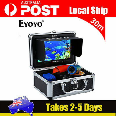 """NEW Hood Shade Cover+7"""" LCD Underwater Video Cam System Fish Finder 30M 1000TVL"""