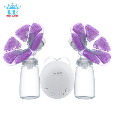 Double Intelligent Electric USB Power Breast Pump with Milk Bottle Cold Heat Pad