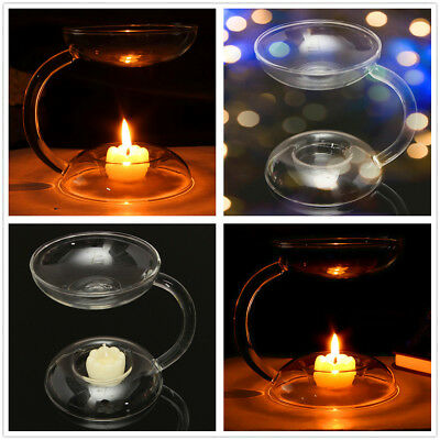 Glass Candle Holder Candlestick Aroma Burner Warmer Party Wedding Diffuser Decor