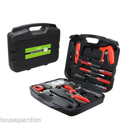 New 60 piece DIY Household Home Hand Tool Set Kit Box with Hard Storage Case UK