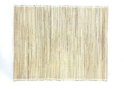 4 X Large Natural Silver Bamboo Placemat 36x46cm