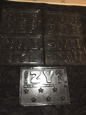 Alphabet Chocolate Moulds