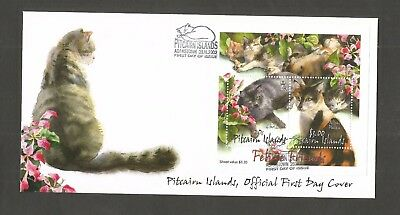 Pitcairn Islands 2002 Cats Minisheet Fdc Sg,ms622 Lot 4906A