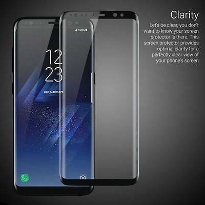 3D Tempered Glass Screen Protector Curved Case Cover Samsung Galaxy S8 ,s8 plus