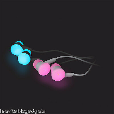 Blink Budz LED Earphones that light up as you move Light up Headphones