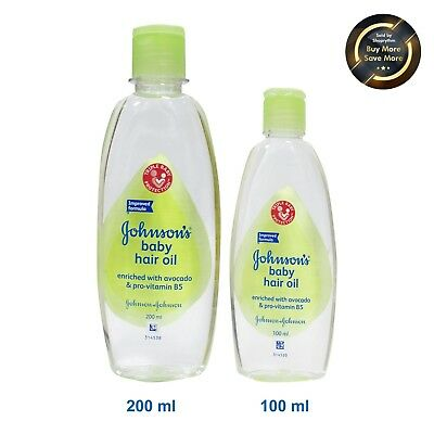 Johnson's Baby Hair Oil Enriched With Avocado & Pro-Vitamin B5 (100Ml & 200Ml)