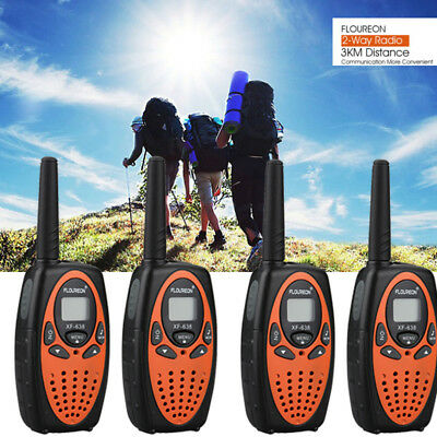 4PCS FLOUREON 8CH Twin Walkie Talkies Portable Mini Kids 2 Way Radio Interphone