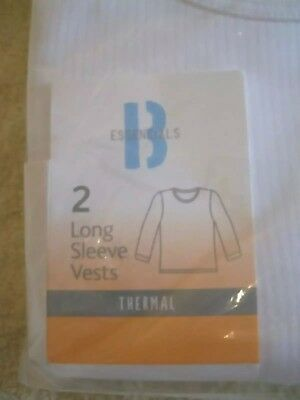 4 x Age 3-4 White long sleeve short sleeve Thermal Vests BHS PRIMARK