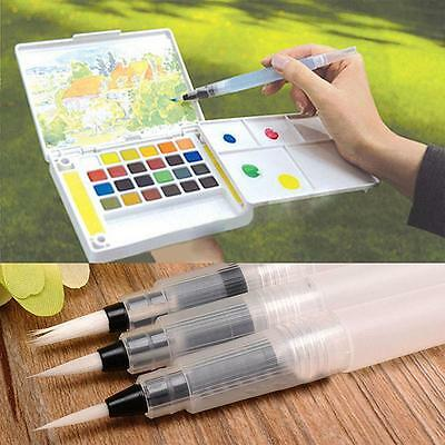 3Size Water Soft Brush Pen Paint For Watercolor Reusable Beginner Calligraphy #K