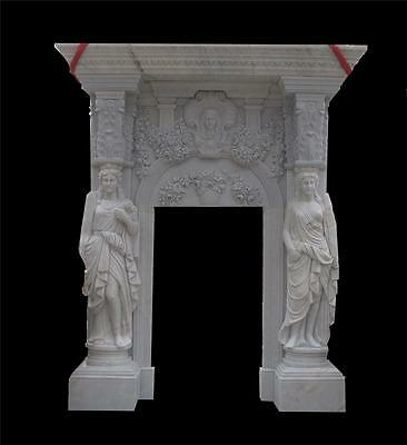 Massinve Hand Carved Marble Figurative Estate Entry Way - Entry 46