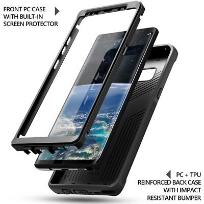 Case For Samsung Galaxy Note 8 Full Body Rugged Heavy Duty Cover Black