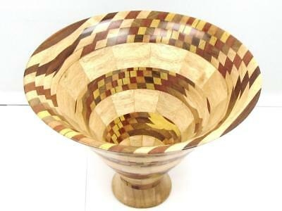 "Unique Exclusive Australian Segmented Wood Turned Bowl  Crafted ""BOB WEMM"