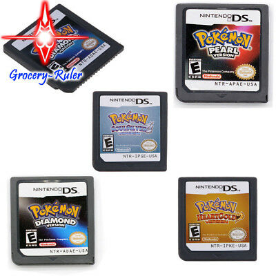 Pokemon HeartGold & SoulSilver Version Game Card USA For Nintendo 3DS NDSi NDS