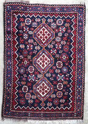 Tapis ancien rug oriental orient tribal ethnique Persan Perse Shirâz 1950