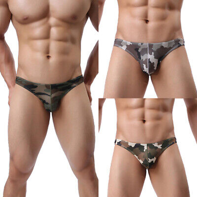 Sexy Men Camouflage Underwear Briefs Male Lingerie Underpant Boxer Thongs Bikini